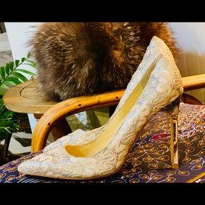 Ivanka Trump Mirrored Solver / White Heels
